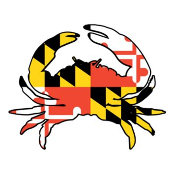 Maryland Flag Crab Die Cut Sticker