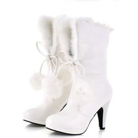 Autumn Winter Women Plus Size High Heels Shoes Woma New Sexy Snow  New Motorcycle Boots Botas Femininas wish me XWX005 = 1946068228