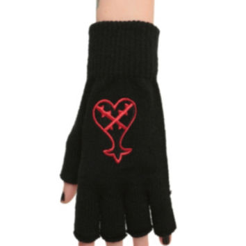 Disney Kingdom Hearts Heartless Fingerless Gloves