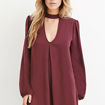 Cutout Front Mini Dress