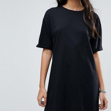 ASOS TALL Ultimate T-Shirt Dress with Rolled Sleeves at asos.com
