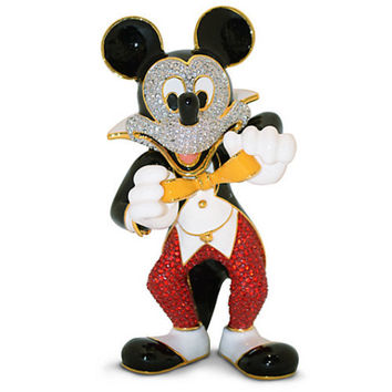 Disney Parks Mickey Mouse Tuxedo Jeweled Figurine by Arribas Brothers New with Box