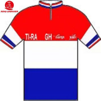 Tour de France 1983 Jan Raas (Hol) Champion cycling jersey Short sleeved clothes summer mtb jersey maillot camisa ciclismo