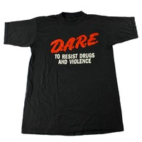 Vintage 1980s DARE To Resist Drugs and Violence Shirt Mens Size Small