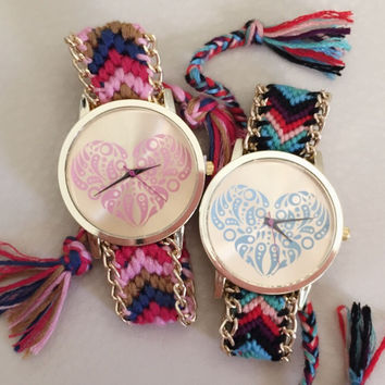 Heart Friendship Bracelet Watch