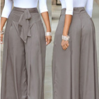 Lace-up Two-piece Pants Set