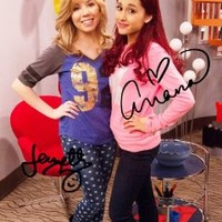 Sam & Cat duo reprint signed photo #4 RP Jennette McCurdy Ariana Grande