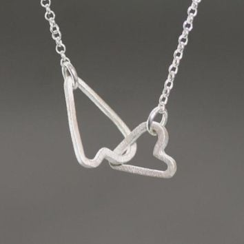 Michelle Chang Jewelry Sideways Heart Necklace