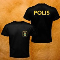 Scandinavia Sweden Svensk Swedish Polis Special Forces Black Men T-Shirt S-3XL