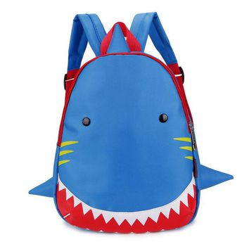 DCCKL3Z Kids Backpack Animal Bag for 1-3 Years Boys and Girls Toddler Shark Bag Kindergarten Children Cartoon School Bag