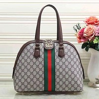 Gucci Women Fashion Leather Satchel Shoulder Bag Handbag