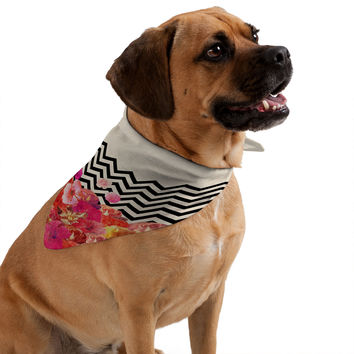 Bianca Green Chevron Flora 2 Pet Bandana