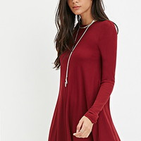 Thermal Knit Trapeze Dress