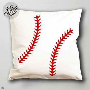 baseball monogram decal  pillow case, cover ( 1 or 2 Side Print With Size 16, 18, 20, 26, 30, 36 inch )