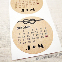 Personalized Wedding Stickers / Wedding Save the Date / Tie the Knot / Wedding Invitations Showers Party Favors