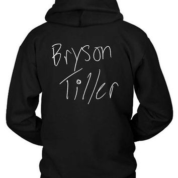 ICIK7H3 Bryson Tiller Title Illustrations Hoodie Two Sided