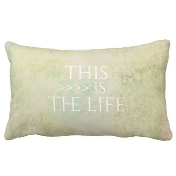 typography quote accent pillow pastel colors