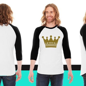 Crown American Apparel Unisex 3/4 Sleeve T-Shirt