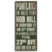 Portland by Artist Cory Steffen Wood Sign