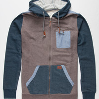 O'neill Melbourne Mens Zip Hoodie Navy  In Sizes