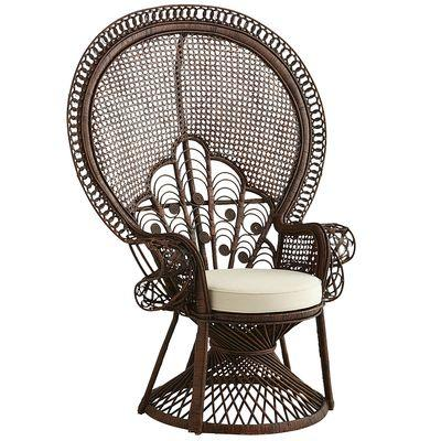 Peacock armchair tobacco brown from pier 1 imports things i - Pier one peacock chair ...