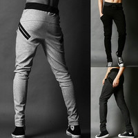 Men Casual Sport Sweat Pants Harem Training Dance Baggy Sport Trousers Slacks 7_S = 1917010948
