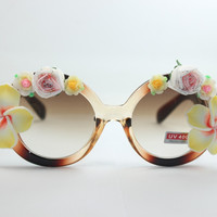 Women's Cute Lovely Summer Style Hot Fashion Fimo Flower Sunglasses = 4672224836