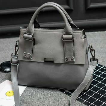 Luxury Women Shoulder Bags Ladies Handbags Female Genuine Leather Bags Large Tote Bag Black Green Gray Handbag Briefcase A055