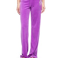 Logo Velour Juicy Lace Cameo Original Pant by Juicy Couture
