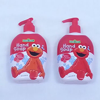 (Pack of 2) Sesame Street Elmo Kids Hand Soap 8 fl oz Cherry Berry Scent