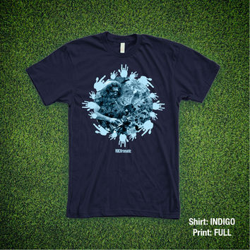"""Jerry Garcia (the Grateful Dead) """"Standing on the Moon"""" Tee"""
