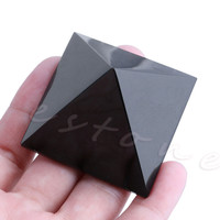 1PC Natural Black Obsidian Quartz Crystal Pyramid Stone Home Decor Healing Gift Holiday gifts