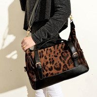 Leopard Printed Handbag & Shoulder Bag-Fashion Shopping Mall