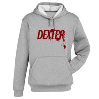 dexter Hoodie Sweatshirt Sweater Shirt Gray and beauty variant color for Unisex size