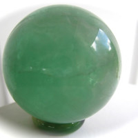 Green Fluorite Carved Crystal Sphere Ball