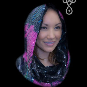 STARDUST LOVE NYLA NIGHT-SKY CONSTELLATIONS COSMIC HOODIE