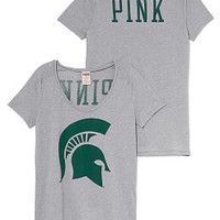 Michigan State Scoopneck Tee - PINK - Victoria's Secret