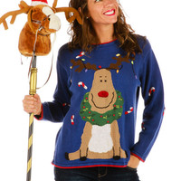 Rudolph So Jolly Ugly Christmas Sweater