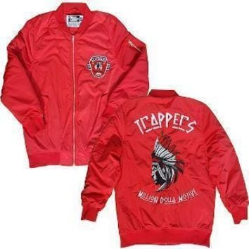 Red Bomber Jacket - TRAPPERS (Jordan 11 Win Like 96)