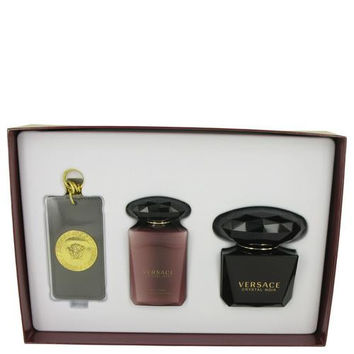 Crystal Noir by Versace Gift Set -- 3 oz Eau De Toilette Spray + 3.4 oz Body Lotion + Versace Luggage Tag (Women)