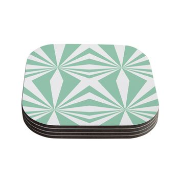 Minty Rays Coasters - Set of 4