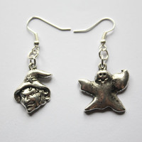 Gunmetal Halloween Earrings, Witch and Ghost, cute and perfect for any spooky outfit
