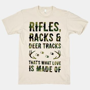 Rifle, Racks & Deer Tracks
