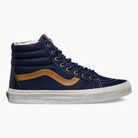 Vans Coated Canvas Sk8-Hi Reissue Mens Shoes Dress Blues  In Sizes