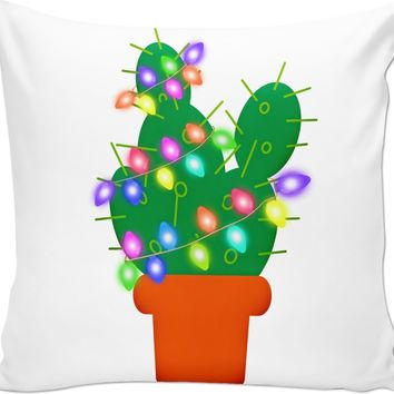 ROCP Christmas Cactus Couch Pillow