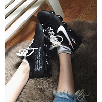 OFF WHITE OW x NIKE AIR VAPORMAX High air cushion running shoes