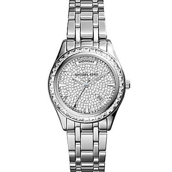 Michael Kors Ladies' Kiley Silver Watch - Silver
