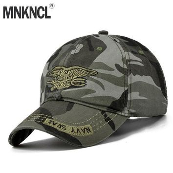 Trendy Winter Jacket 2018 New Fashion Summer Men's Navy Seal Adjustable Camouflage Cotton Canvas Baseball Cap Sun Hat Outdoors Casual Snapback Caps AT_92_12