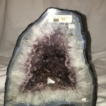 Amethyst & Quartz Crystal Geode- All Natural Geode Cathedral from BrazilHealing Crystals \ Reiki \ Healing Stone \ Healing Stones \ Chakra