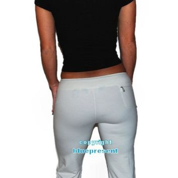 Ralph Lauren RLX Womens Gym Workout Tights Stretch Pants Cream Beige